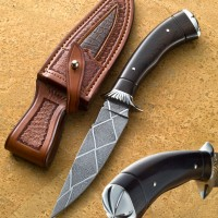 Fancy Hunter- African Blackwood- Carved Stainless Fittings